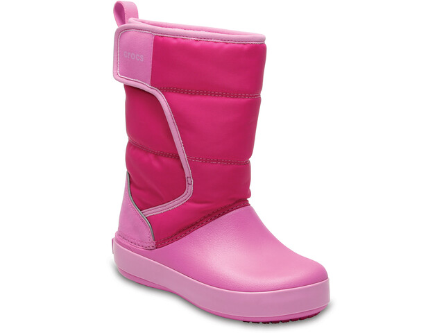 Crocs LodgePoint Snow Boots Kinder candy pink/party pink